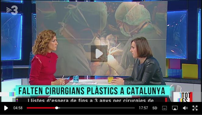 Entrevista a la Dra. Anna López, presidenta de la SCCPRE, al programa Tot es mou de TV3