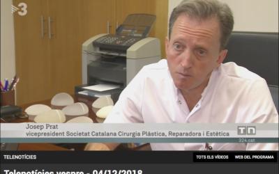 Reportatge amb el doctor Josep Prat, vicepresident de la SCCPRE, al Telenotícies vespre TV3