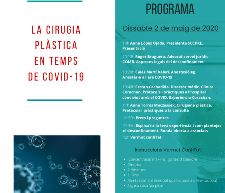 Més de 50 professionals participen al webinar 'La cirurgia plàstica en temps de Covid-19'