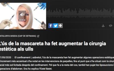 Notícia a Catalunya Informació sobre l'augment de blefaroplàsties després del confinament
