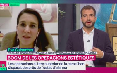 Notícia a Planta Baixa de TV3 centrada en l´increment de blefaroplàsties després del confinament